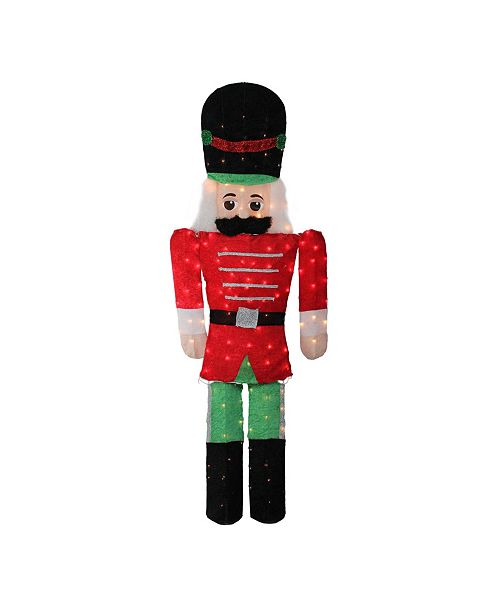 Northlight 6' Pre-Lit Candy Cane Lane 2-D Toy Soldier Christmas Outdoor Decoration