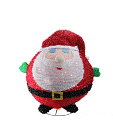 "20"" Lighted Collapsible Christmas Santa Claus Outdoor Decoration"