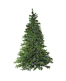 7.5' Layered Pine Instant Power Technology Single Plug Christmas Tree - Multi LED Lights
