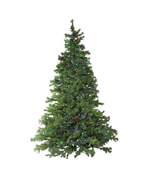 Northlight 7.5' Layered Pine Instant Power Technology Single Plug Christmas Tree - Multi LED Lights
