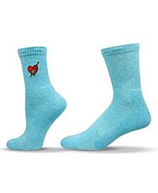 Unisex Novelty Heart Crew Socks