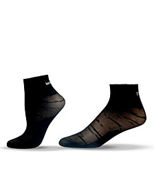 Unisex Mesh Nylon Quarter Socks with Saying