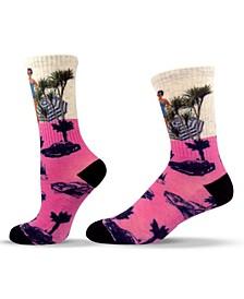 Unisex Surf Style Retro Crew Socks