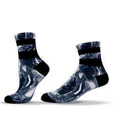 Unisex Patterned Marble Quarter Socks
