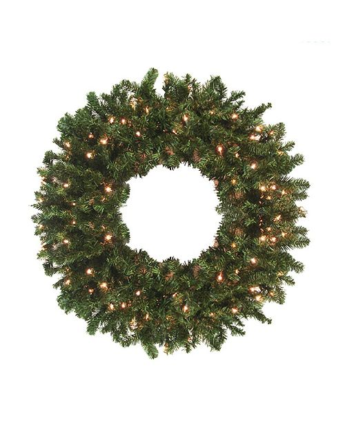Northlight 8' Pre-Lit High Sierra Pine Commercial Artificial Christmas Wreath - Clear Lights