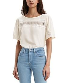 Women's Noe Lace-Contrast T-Shirt