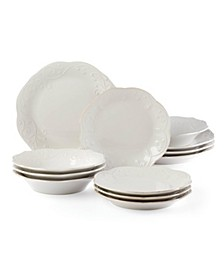 French Perle White 12-PC Dinnerware Set, Service for 4, Created for Macys