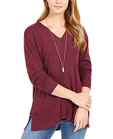 Drop-Shoulder V-Neck Tunic, Created For Macy's
