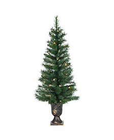 4Ft. Potted Hard Needle Idaho Pine with 50 Clear Lights