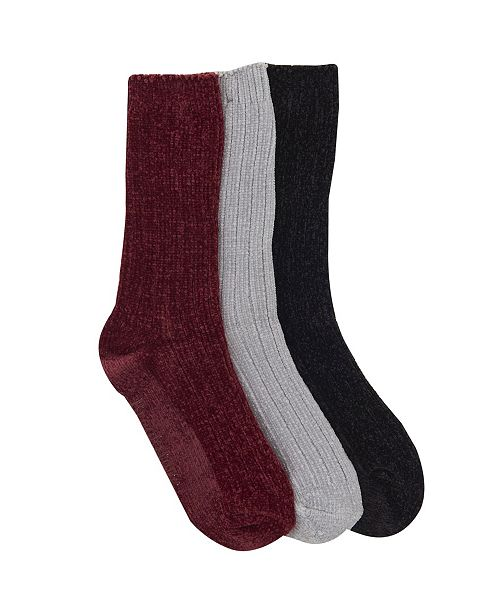 Brookstone Chenille Sock, 3 Pack