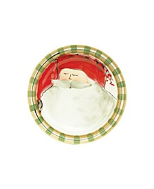 Old St. Nick Red Salad Plate
