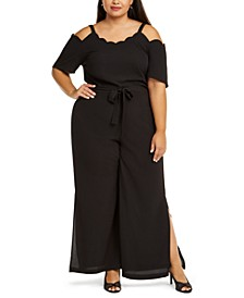 Trendy Plus Size Scalloped Jumpsuit