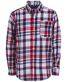Big Boys Samson Yarn-Dyed Plaid Flannel Shirt