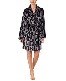 Women's Printed Plush Robe