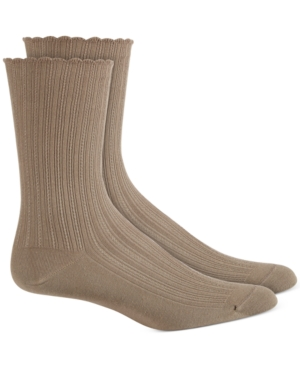 Hue Accessories WOMEN'S SCALLOPPED POINTELLE SOCKS