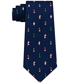Men's Festive Tree and Polar Bear Tie