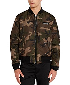 Men's Reversible Camo Bomber Jacket