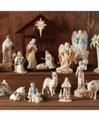 First Blessing Nativity Llama Figurine