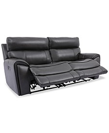 Hutchenson 2-Pc. Leather Sectional with 2 Power Recliners and Power Headrests