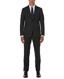 Men's Modern-Fit Gray Solid Suit Separates