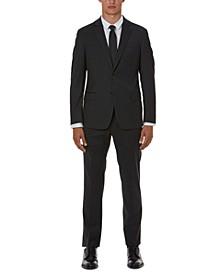 Men's Slim-Fit Gray Solid Suit Separates