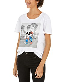 Juniors' Mickey And Minnie Graphic T-Shirt