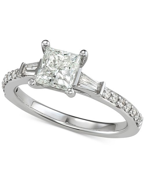 Macy's Diamond Princess Engagement Ring (1 ct. t.w.) in 14k White Gold