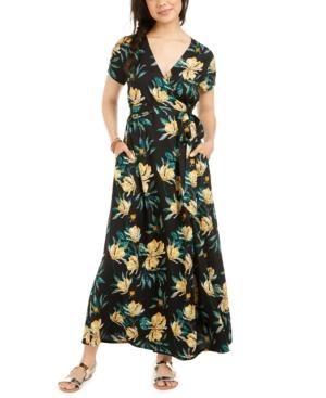 Roxy Dresses JUNIORS' DISTRICT DAY FLORAL-PRINT MAXI DRESS