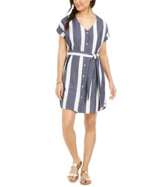 Roxy Dresses JUNIORS' COTTON HEAR ME NOW STRIPED DRESS