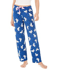 Women's Holiday Polar Bear Pajama Pants, Online Only