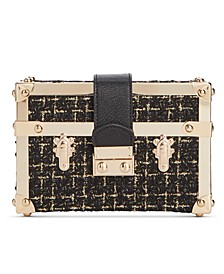 INC Gonca Boucle Box Clutch, Created For Macy's