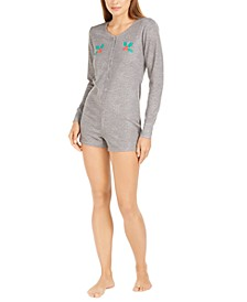 Women's Thermal 1-Pc. Sleep Romper, Created For Macy's
