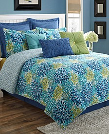 Calypso 4-Piece Floral Quilt Set - Full