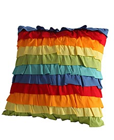 "Baja Ruffle 18"" x 18"" Decorative Pillow"