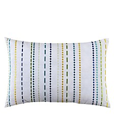 "LaVida 12"" x 18"" Embroidered Stripe Decorative Pillow"