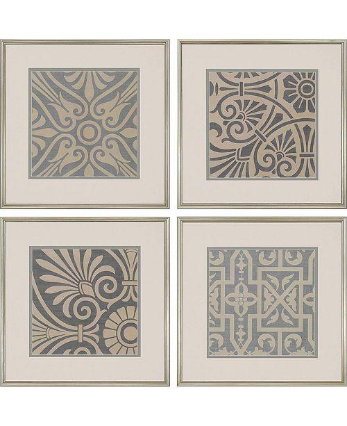 "Paragon Ionian Framed Wall Art Set of 4, 26"" x 26"""