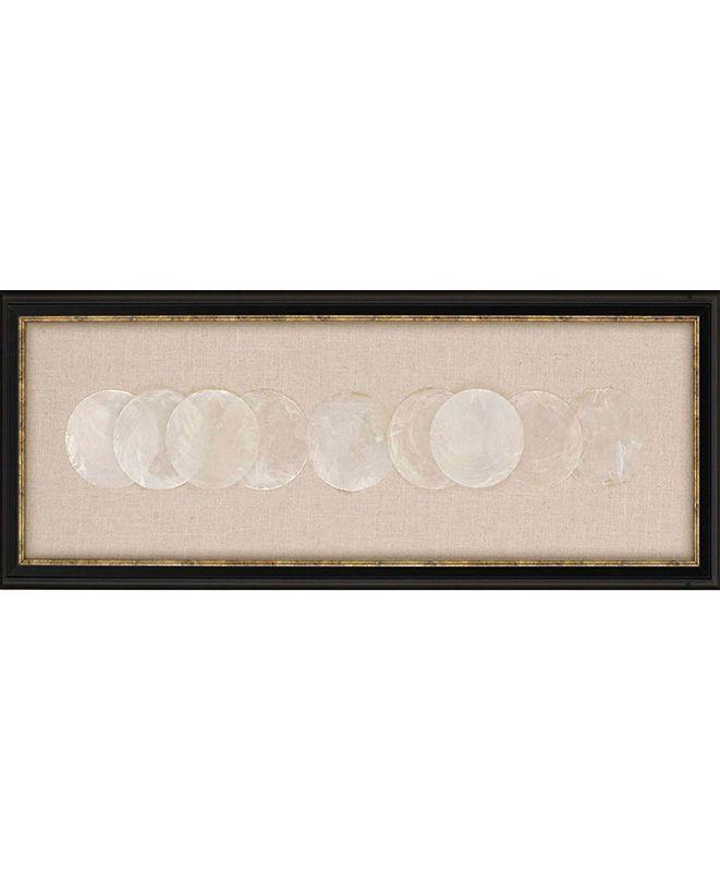 """Paragon Capiz Framed Wall Art, 12"""" x 31"""""""