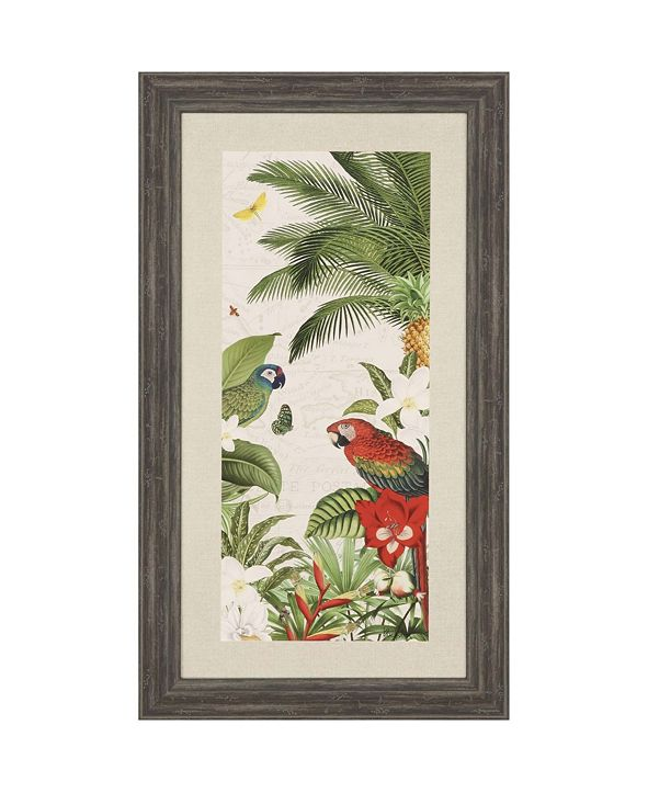 "Paragon Parrot Paradise VII Framed Wall Art, 46"" x 26"""