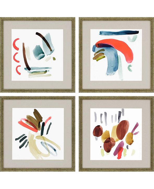 "Paragon Organic Framed Wall Art Set of 4, 17"" x 17"""