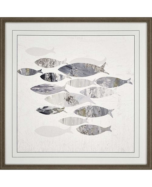 "Paragon Gone Fishing II Framed Wall Art, 31"" x 31"""