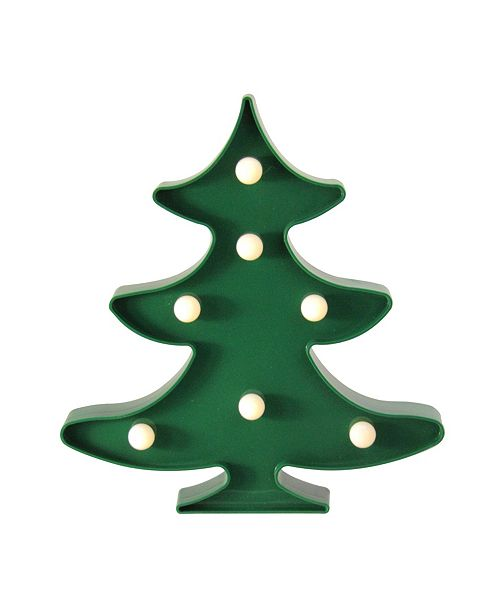 Northlight Battery Operated Led Lighted Green Christmas Tree Marquee Sign