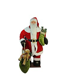 5' Red Animated Musical Inflatable Santa Claus Christmas Figurine