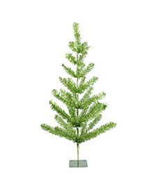3' Lime Green Tinsel Pine Artificial Christmas Twig Tree - Unlit