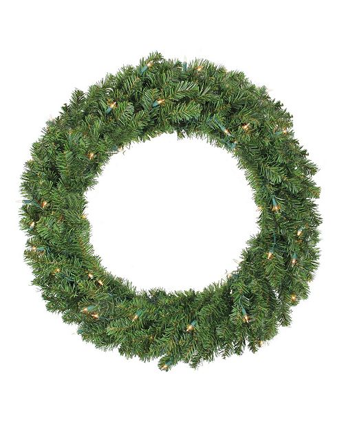 "Northlight 30"" Pre-Lit Canadian Pine Artificial Christmas Wreath - Clear Lights"