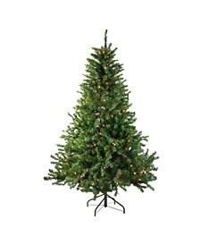 10' Pre-Lit Canadian Pine Artificial Christmas Tree - Multi Lights