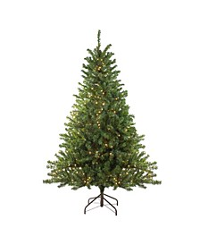 8' Pre-Lit Canadian Pine Artificial Christmas Tree - Clear Lights