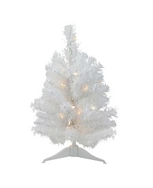 "18"" Pre-Lit LED Snow White Artificial Christmas Tree - Candlelight Lights"