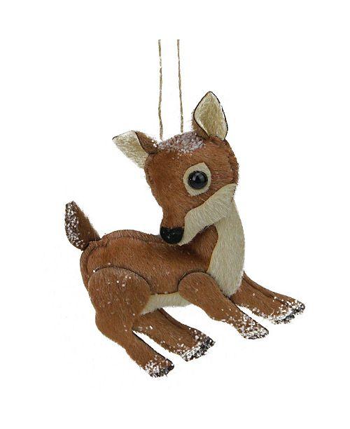Northlight Glittered Plush Stuffed Deer Christmas ornament