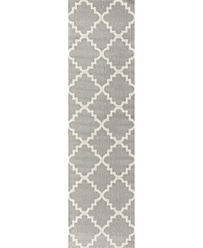 "Home Haven Hav9102 Gray 2' x 7'2"" Runner Rug"