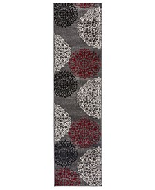 "Home Alba Alb303 Red 2' x 7'2"" Runner Rug"
